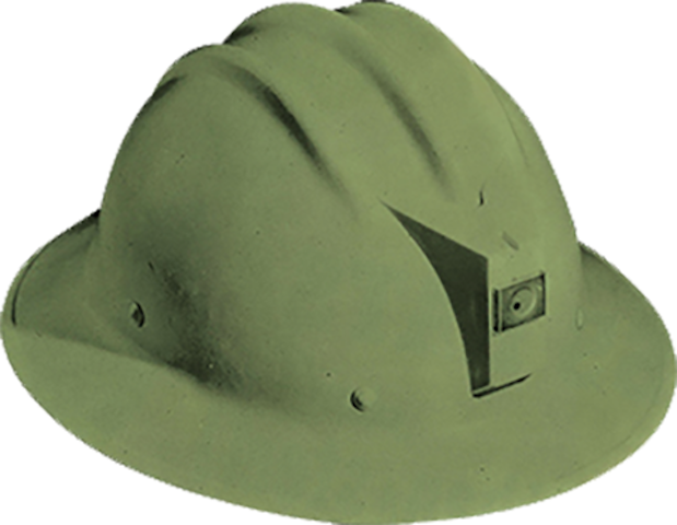 1950 Bullard develops first thermoplastic hard hat