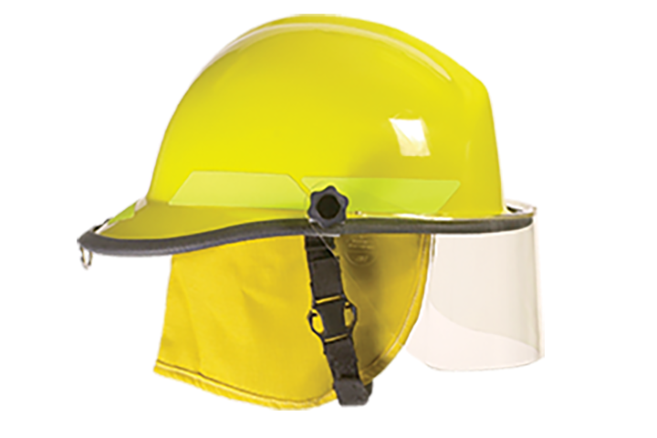 1984 Bullard introduces first NFPA-approved thermoplastic fire helmet