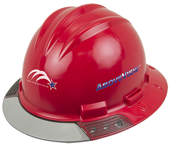 2017 Bullard introduces AboveView Hard Hat with see-through visor